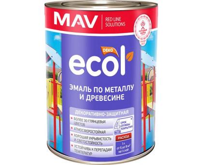 Эмаль ECOL по металлу и древесине (ПФ-115) белая мат 1,0л (0,9кг)