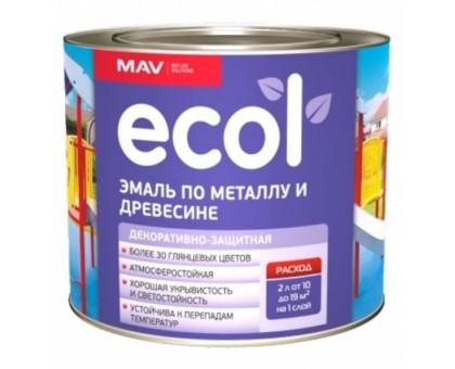Эмаль ПФ-115 малиновая ECOL по метал. и древесине (2,0 кг.)
