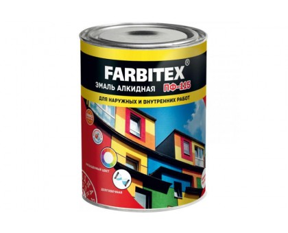 Эмаль алкидная ПФ-115 хаки (0,9 кг) FARBITEX