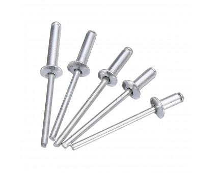 Заклепка вытяжная 3.2х10 мм алюм./сталь, цинк (50шт. в зип-локе)STARFIX