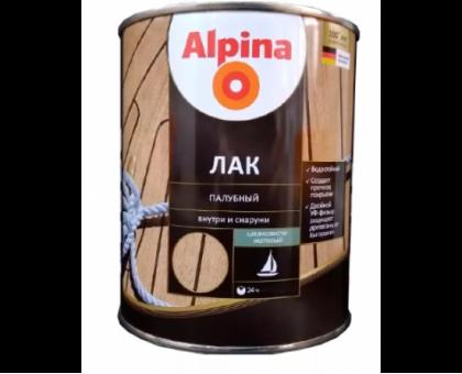 Лак АУ Alpina Лак палубный глянцевый шелковисто-мат.,бесцв. 0,75л,0,67кг
