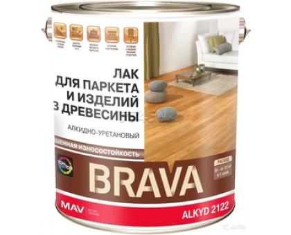 Лак BRAVA ALKYD 2122 д/паркета и изд.из дер.(АУ-2122) бесцв.матов.3 л (2,3кг)