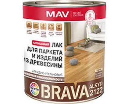 Лак BRAVA ALKYD 2122 д/паркета и изд.из дер.(АУ-2122) бесцвет.глянц.3л(2,3кг)