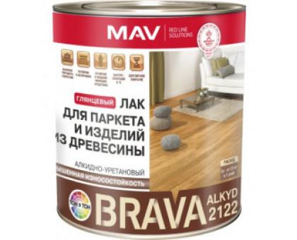 Лак BRAVA ALKYD 2122 д/паркета и изд.из дер.(АУ-2122) бесцв.глянц.1 л (0.7кг)