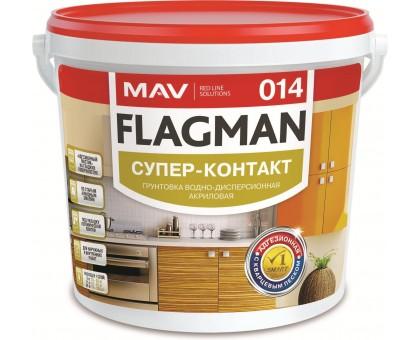 Грунтовка FLAGMAN 014. Супер-контакт. Белая. 3.0л/3.5кг. РБ