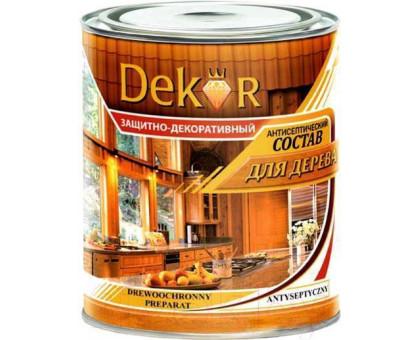"""Антисептик для дерева """"DEKOR"""" декор.орех 1.8 кг"""