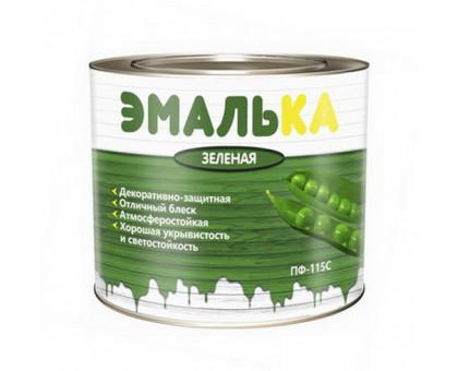 Эмаль ПФ-115 С ЭМАЛЬКА для отд.нар.и внутр.работ зелёная 2,0л.(1,8кг.)