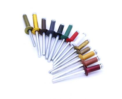 Заклепка 4х10,алюм./сталь, RAL3011 (красно-корич.) упак 50 шт.